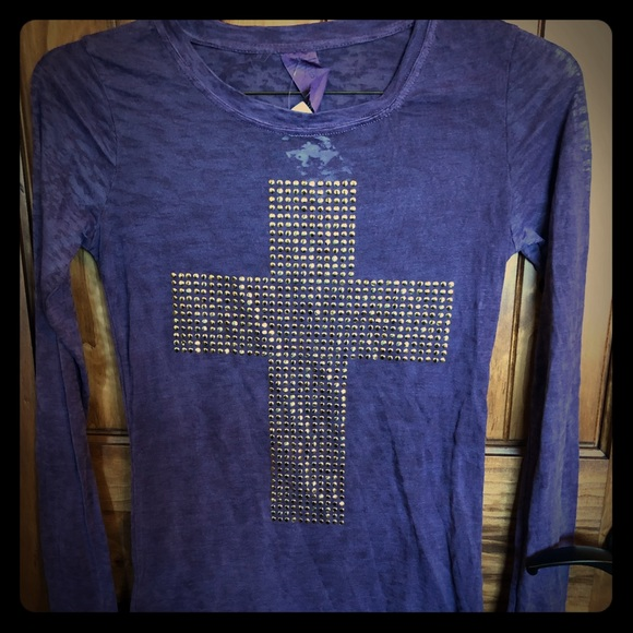 b5bf0284cfed3 Purple Ragstock Cross Tee